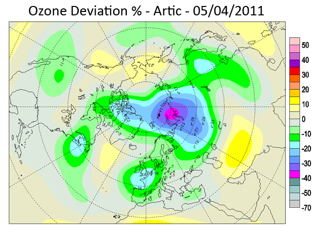 Ozone Deviation - April 2011
